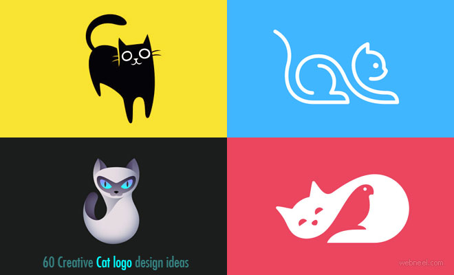 65 Creative Cat Logo Design ideas for your inspiration