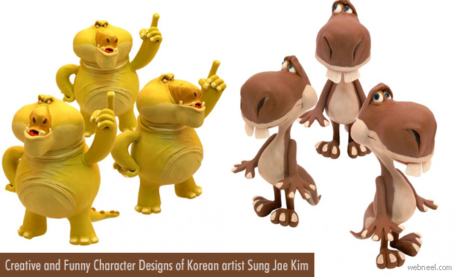 Funny 3D Character Designs and Models of Sung Jae Kim