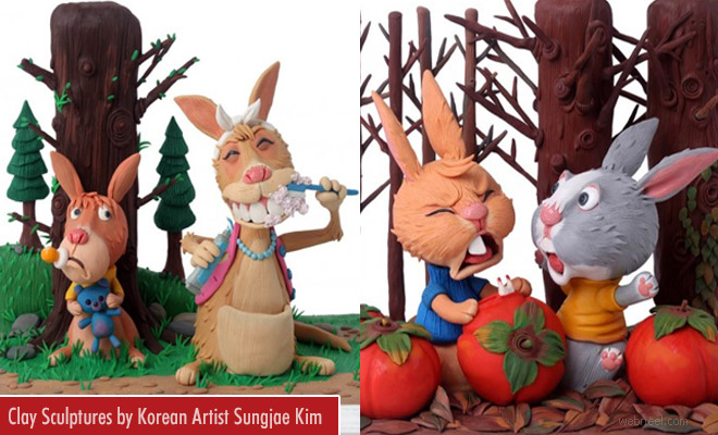 Stunning Animal Clay Sculptures by Korean artist Sungjae Kim
