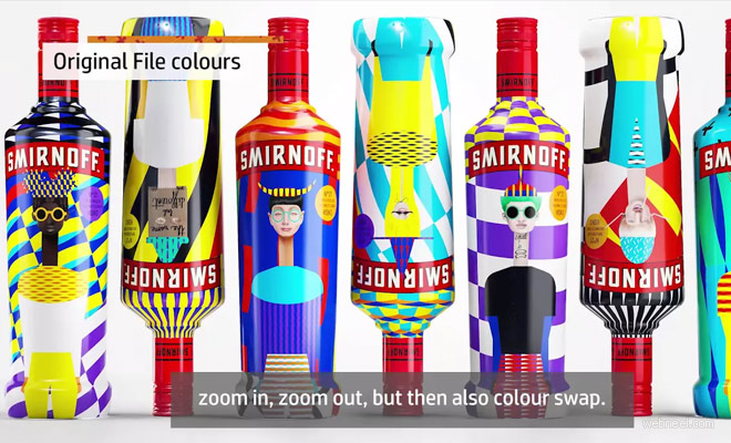 Auto Color Swapping Packaging Designs by Yarza Twins Using HP D4D Technology