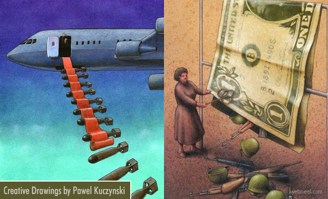 Funny Satirical and Creative Drawings by Pawel Kuczynski