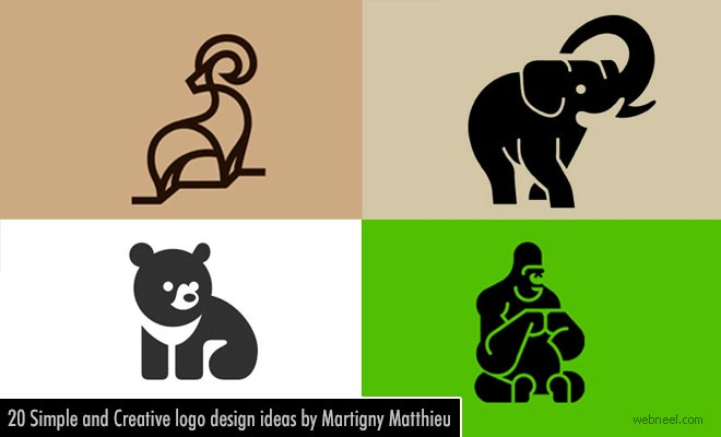 20 Simple and Creative Animal logo design ideas by Martigny Matthieu