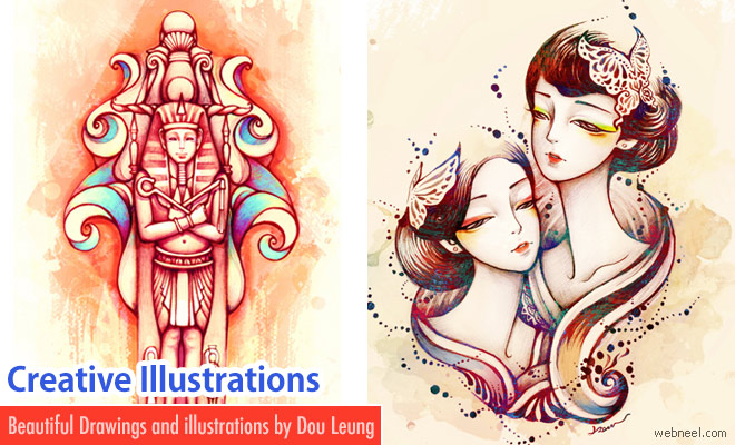 20 Creative and Coloful Illustrations by Dou Leung