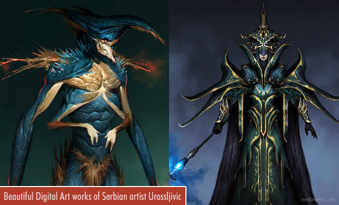 Beautiful Digital illustrations and Game character designs by Uros-Sljivic