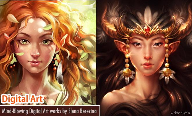 Stunning Fantasy Digital Art works by Elena Berezina