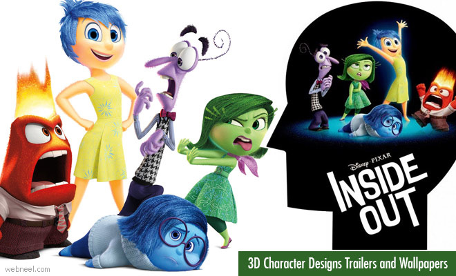 Inside Out - 3D Animation Movie Character Designs Trailers and Wallpapers