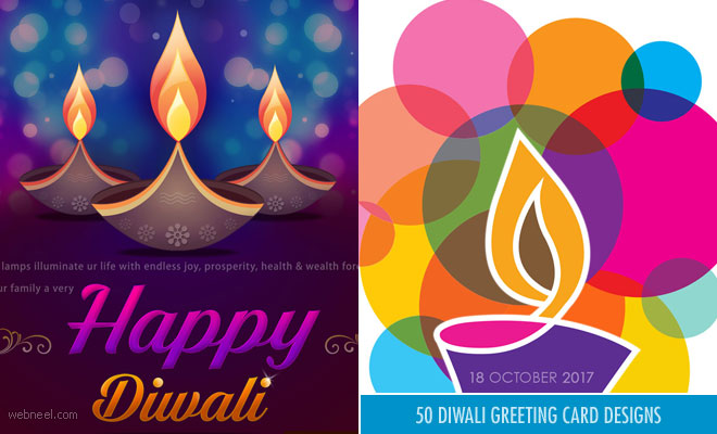 50 Beautiful Diwali Greeting cards Design and Happy Diwali Wishes