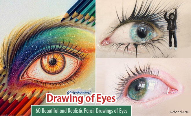 60 Beautiful and Realistic Pencil Drawings of Eyes - Part 2