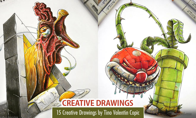 15 Creative and Funny Drawings by Tino Valentin Copic