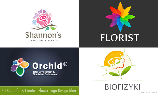 50 Creative Flower Logo design examples for your inspiration