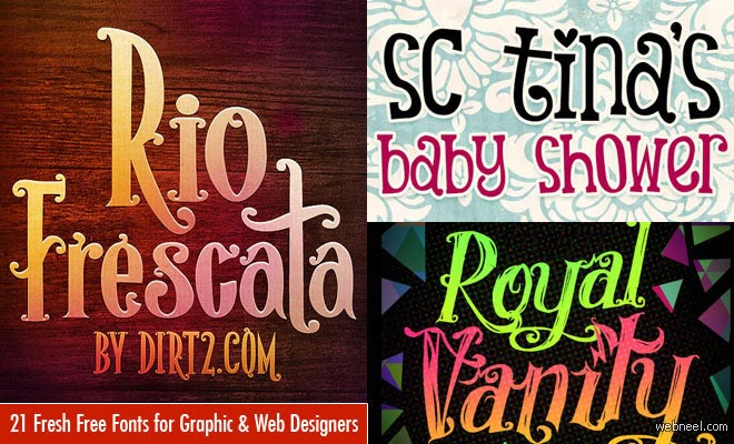 21 Beautiful Free Fonts for Graphic and Web Designers - Download now