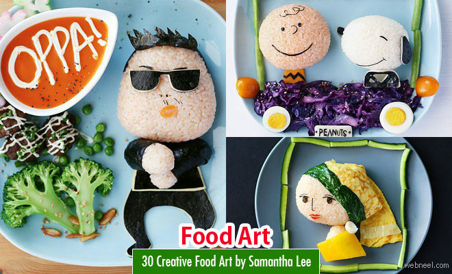 Food art sculptures