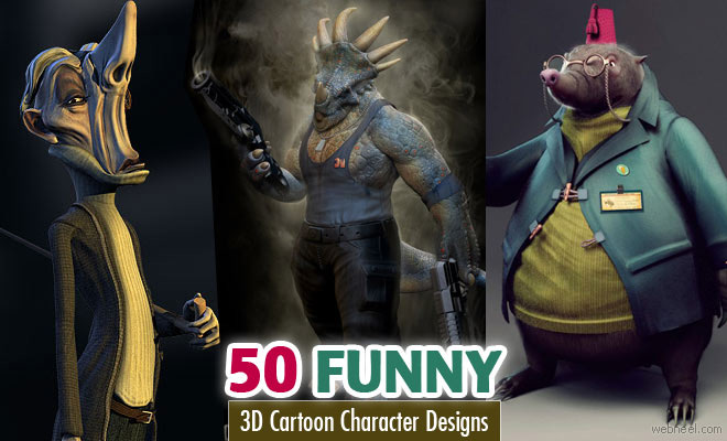50 Funny and Beautiful 3D Cartoon Character Designs for your inspiration - part 4