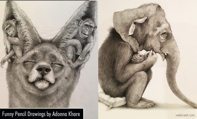 Funny and Surreal Pencil Drawings by Adonna Khare
