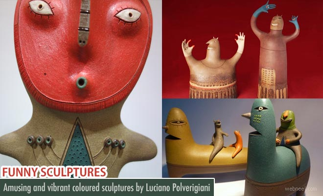 Funny and creative Ceramic Sculptures by Luciano Polverigiani