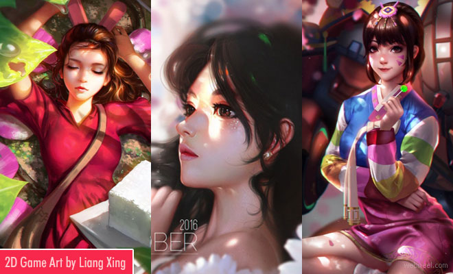 Fantasy 2D Digital Art works and Game Character Designs by Liang Xing