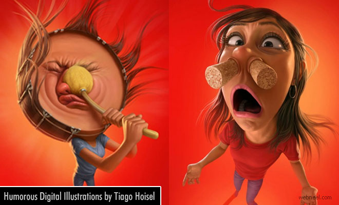 Humorous Digital Art and Illustrations by Tiago Hoisel - Sinus Awareness