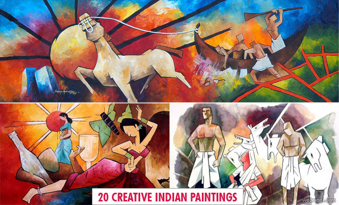 20 Beautiful Paintings and Creative Indian Artworks by Sudeep Mukherjee