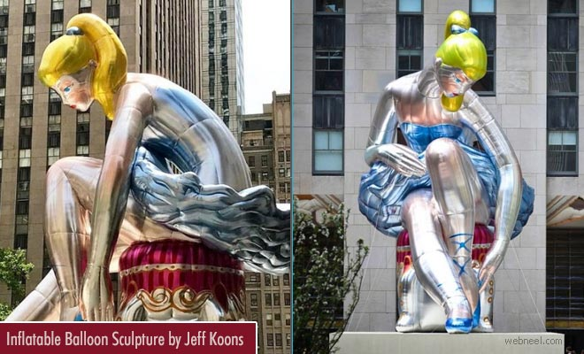 Stunning Inflatable Balloon Sculpture by Jeff Koons