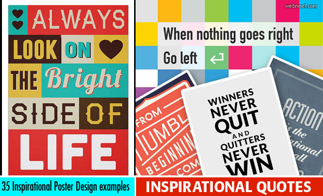 35 Inspirational Quotes and Posters Design examples for your inspiration
