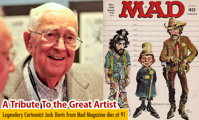 Legendary Cartoonist Jack Davis from Mad Magazine dies at 91, RIP
