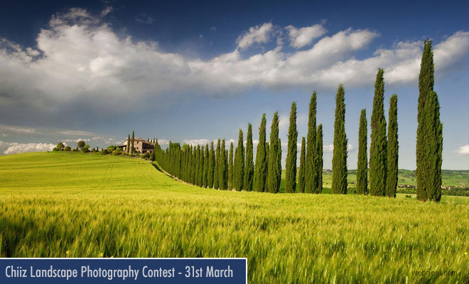 Chiiz Landscape Photography Contest - entries by 31 March 2018