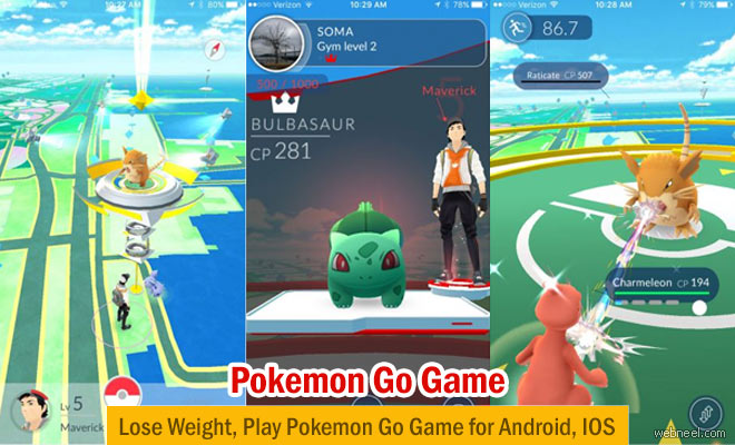 Lose Weight, Play Pokemon Go - 3d Animation game for Android, IOS