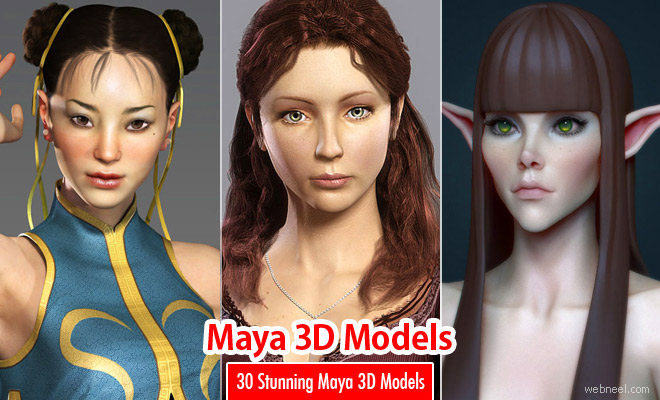 30 Stunning Maya 3D Models and Character designs for your inspiration