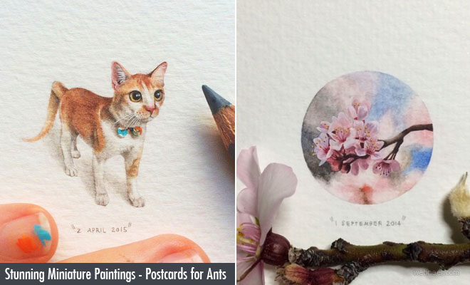 Stunning Miniature Paintings by Lorraine Loots - Postcards for Ants