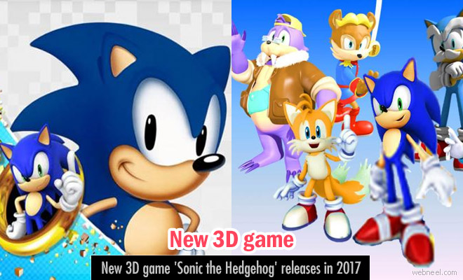 New 3D game 'Sonic the Hedgehog' releases in 2017