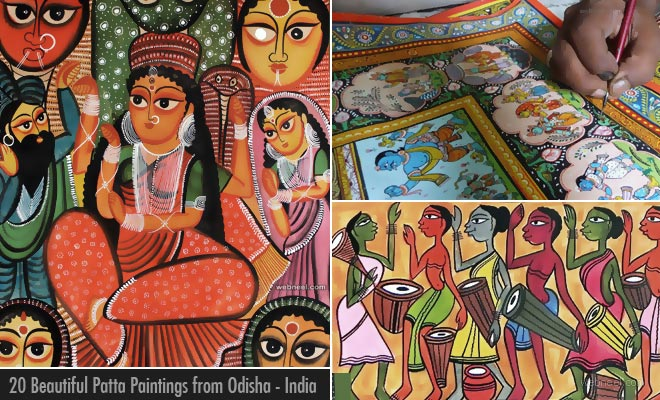 20 Beautiful Patta chitra Paintings from top Odisha artists