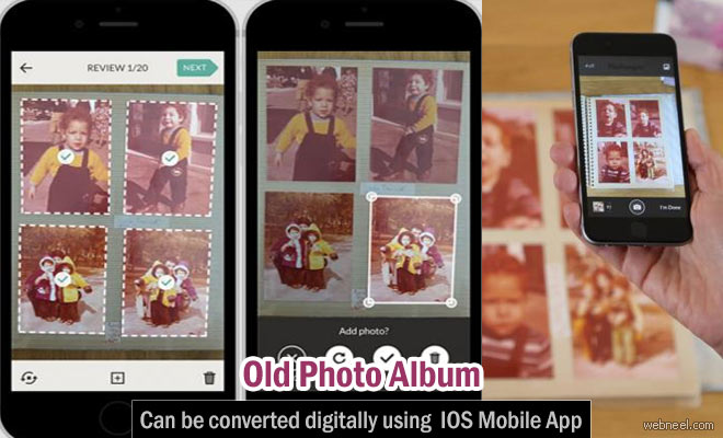 Old Photo Album can be converted digitally - IOS Mobile App