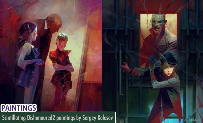 Beautiful Paintings from playstation game Dishonored 2 by Sergey Kolesov
