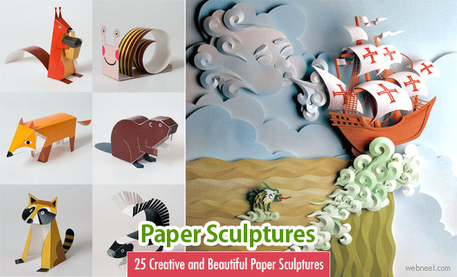 25 Creative and Beautiful Paper Sculptures from around the world