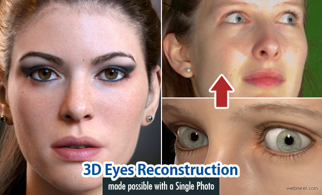 3D Eyes Reconstruction made possible with a Single Photo