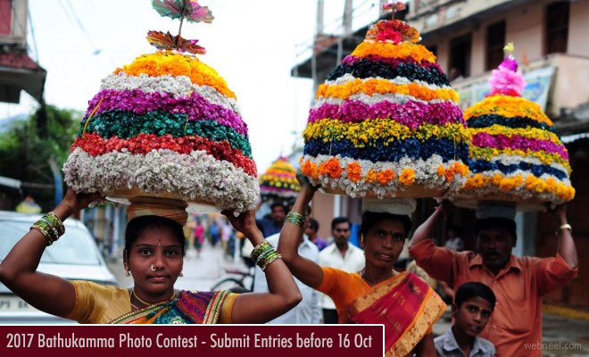 Photo Contest India Bathukamma Festival 2017 - entries before 16 Oct