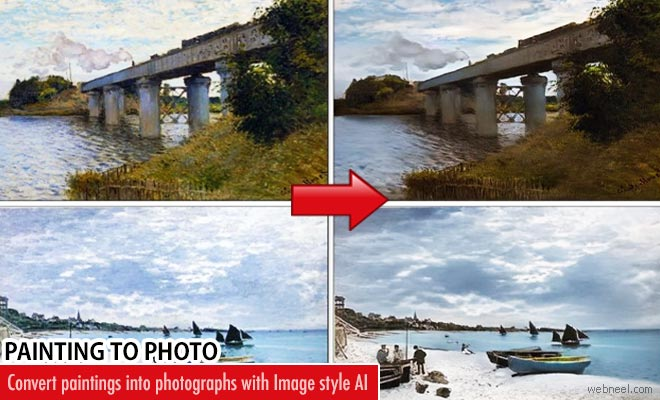 Convert paintings into photographs with Image style AI