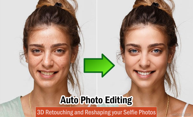 Auto Photo Retouching and 3D Reshaping your Selfie Photos - IOS App