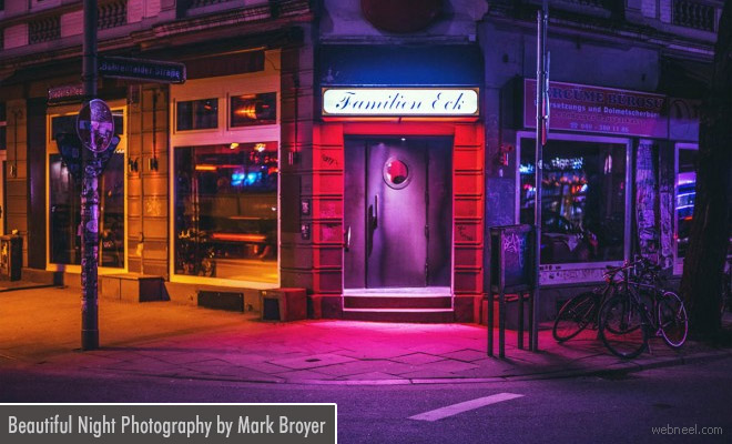 Beautiful Hamburg city Night Photography examples by Mark Broyer
