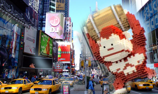 New York invasion by 8-bits creatures ! - PIXELS1