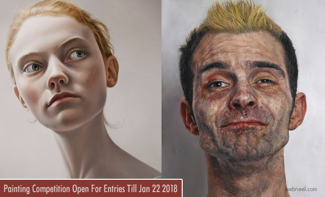 UK Portrait Painting Competition 22 Jan 2018 - win £ 35000