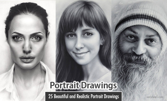 40 Beautiful and Realistic Portrait Drawings for your inspiration - part 21