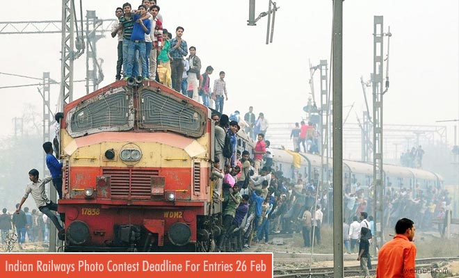 Indian Railways Hosting Photography Contest - entries by 25 Feb 2018
