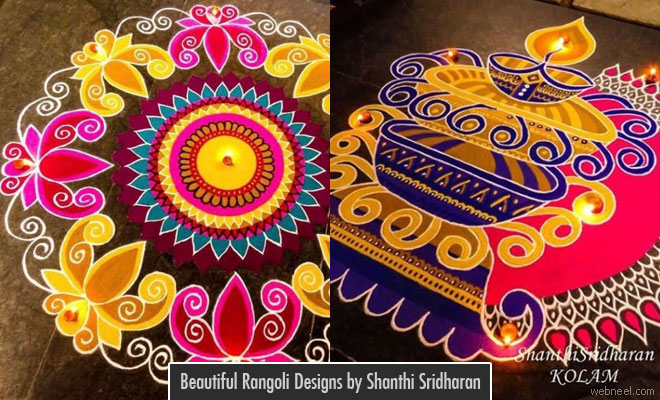 15 Beautiful and Easy Diwali Rangoli Designs by Shanthi Sridharan