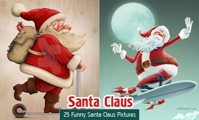 25 Funny Santa Claus Pictures and Digital Artworks for you