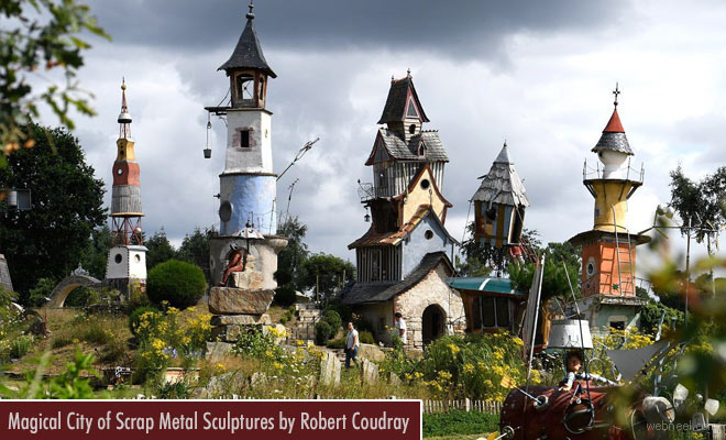 Magical city of Scrap Metal Sculptures by Robert Coudray