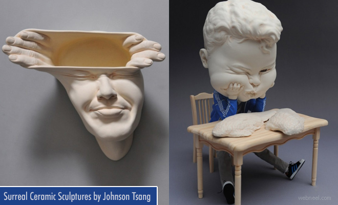 Open Mind - Surreal Ceramic Sculptures by Johnson Tsang
