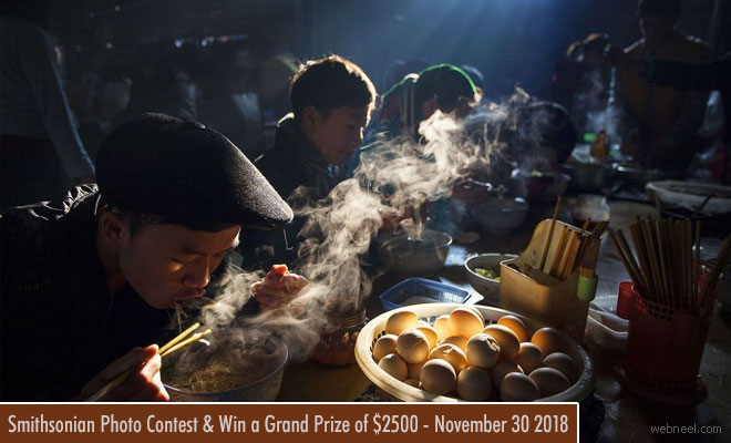Enter Smithsonian Photo Contest and Win a Grand Prize of $2500 - November 30 2018
