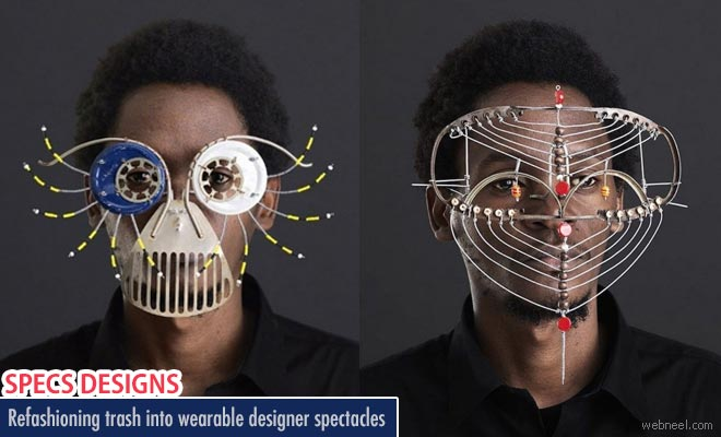 Refashioning trash into wearable designer spectacles by Cyrus Kabiru