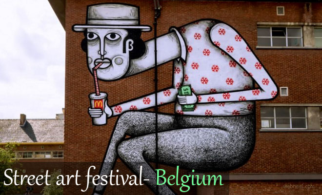 Beautiful Street Art works from Kaleidoscope Art Festival in Belgium